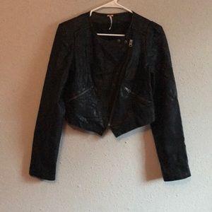 Free People beautiful leather jacket